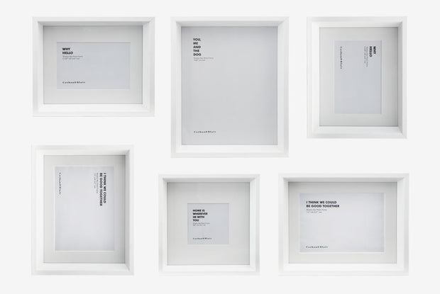 Corban & Blair - Shadow Box 6 Piece - White