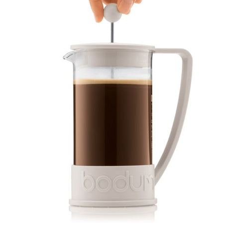 Bodum - Brazil French Press Coffee Maker Off-White - 8 Cup