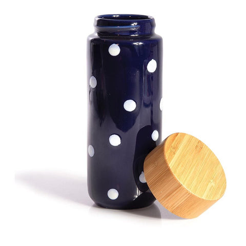 Eco Bottle Double Walled Ceramic Polka Dots