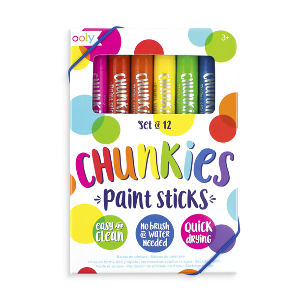 Ooly - Chunky Paint Sticks - Pack of 12