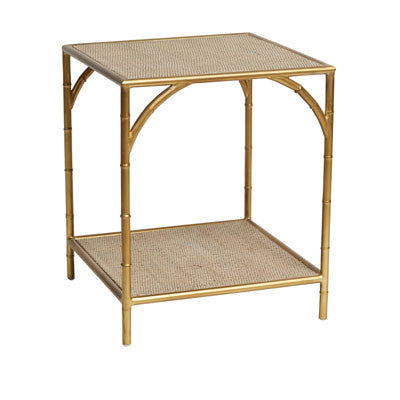 Melrose Brass Side Table