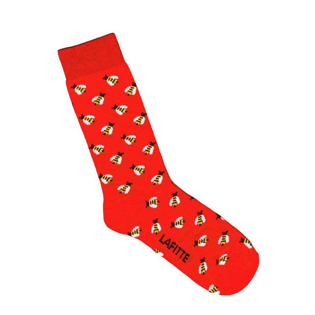 Lafitte Socks - Bees in Red: Size EU 39-45