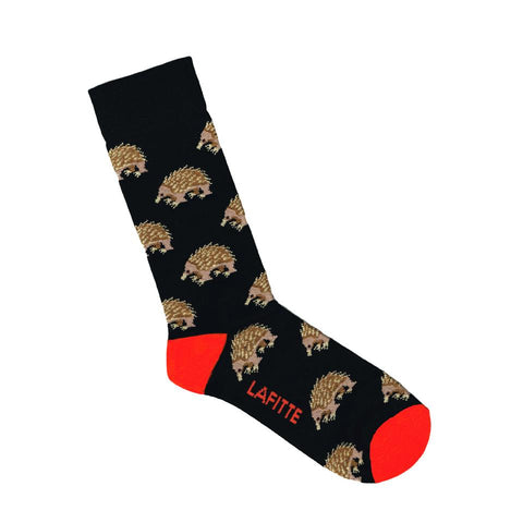 Lafitte Socks - Echidna in Black: Size EU 39-45