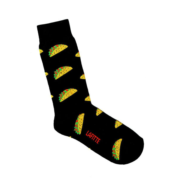 Lafitte Socks - Tacos in Black: Size EU 39-45