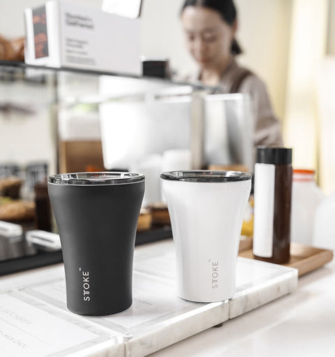 Sttoke - Reusable 8oz 'Lux Black' Coffee Cup