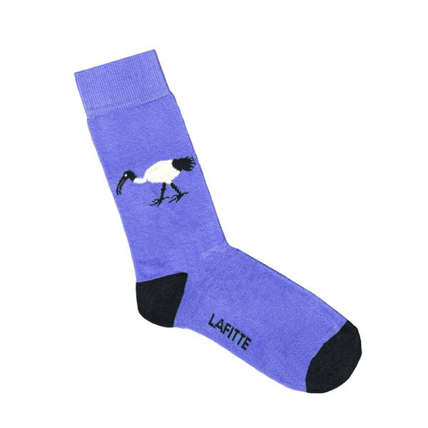 Lafitte Socks - Ibis in Purple: Size EU 35-39