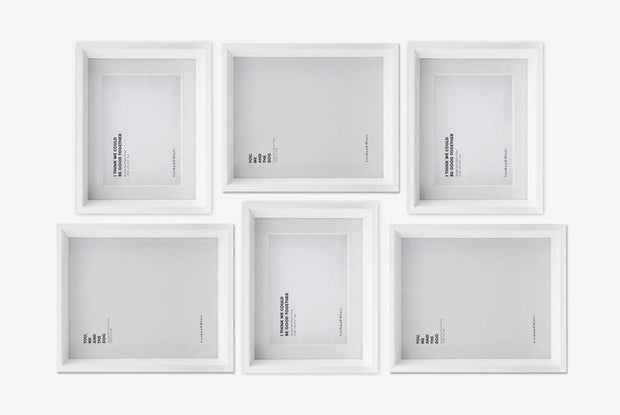 Corban & Blair - Maheno Wall Of Frames - White