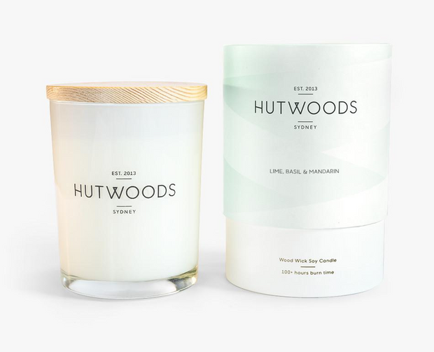Hutwoods - Lime, Basil & Mandarin 500g Candle