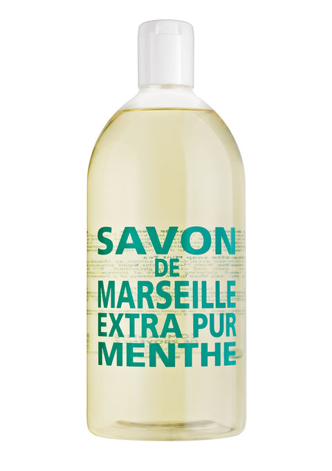 Savon de Marseille - Liquid Soap Refill 1L - Mint Tea