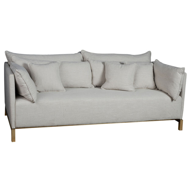 Melrose 3 Seater Sofa - Natural & Gold
