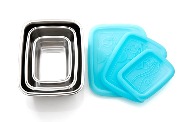 4evaeco - Stack n Nest Food Containers Trio - Blue