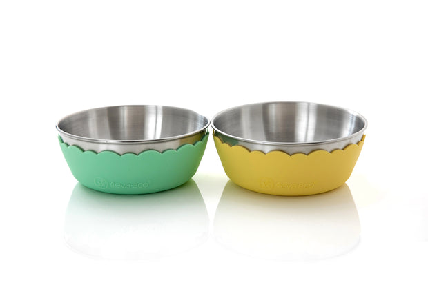 4evaeco - Pastel Mini Bowl 2 pack - Yellow & Green