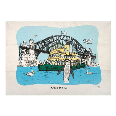 Squidinki Sydney Harbour Tea Towel