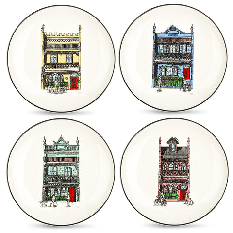 Squidinki - Inner City Collection Set of 4 Canapé Plates