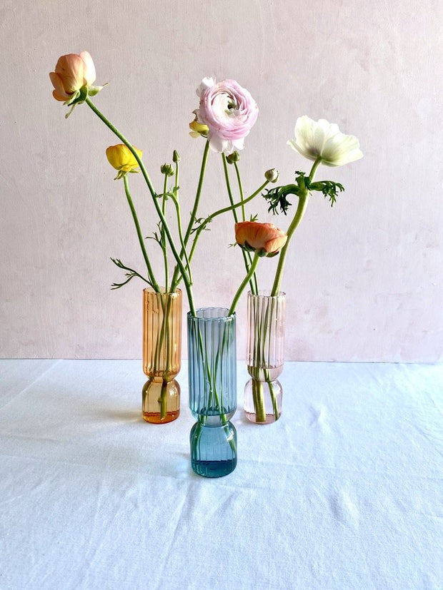 Gloria Speaking - Posy Glass Vase - Small Pink