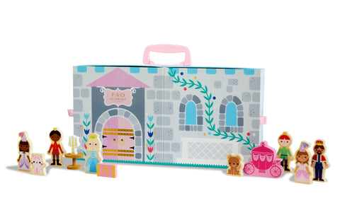 FAO Schwarz - Toy Play Set with Carrier Princess Castle