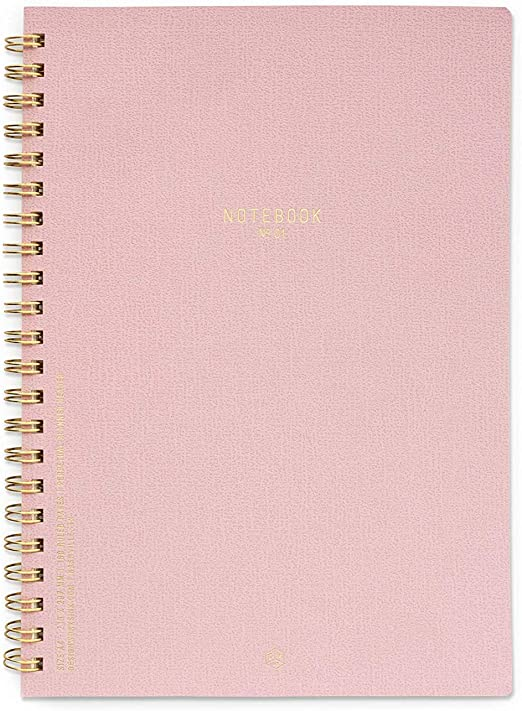 No.01 Pink Chiffon - Large Textured Notebook