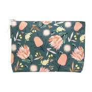 Annabel Trends - Large Cosmetic Bag - Aussie Flora Khaki