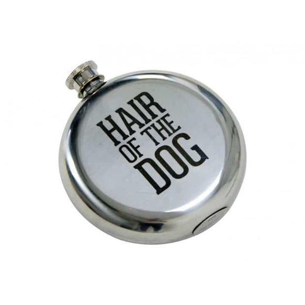 Annabel Trends - Hair of the Dog Round Hip Flask
