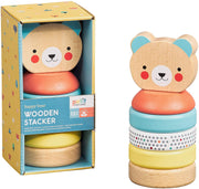 Petit Collage - Happy Bear Wooden Stacker