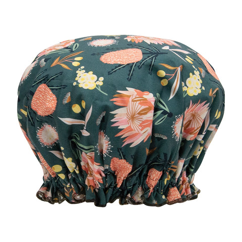 Annabel Trends - Shower Cap - Aussie Khaki Flora