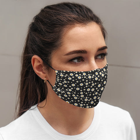 Annabel Trends - Face Mask - Adult Daisy Black