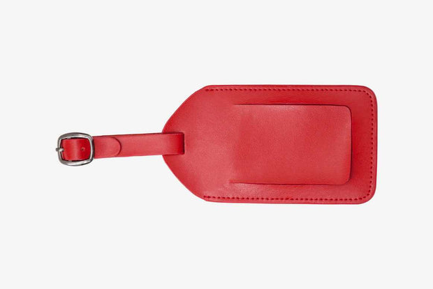 Corban & Blair - Leather Luggage Tag - Red