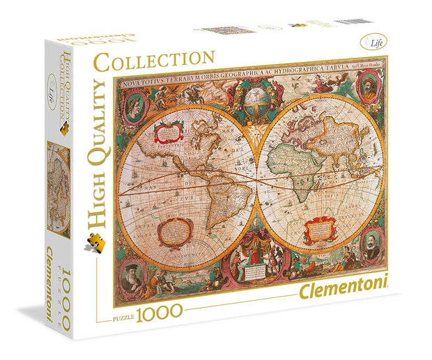 Old Map 1000 Piece Jigsaw Puzzle