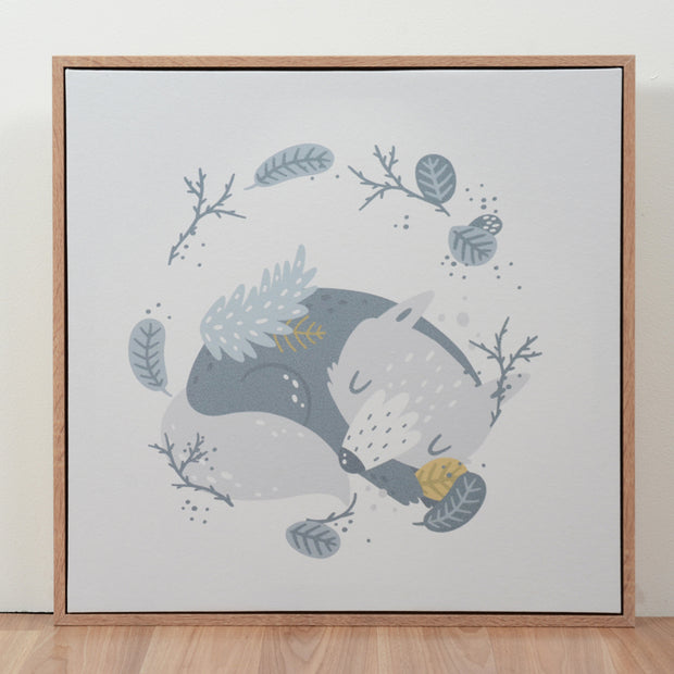 Habitat 101 - Framed Canvas Goodnight Wolf 50cm