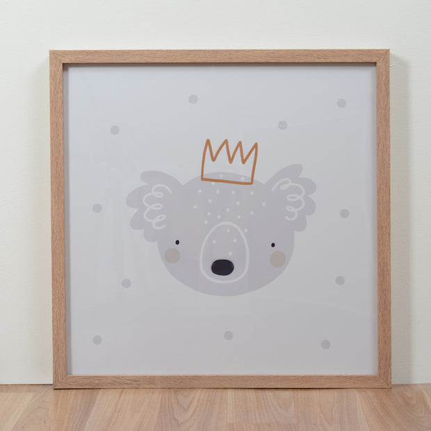 Habitat101 - Framed Art Print Koala Crown 50cm