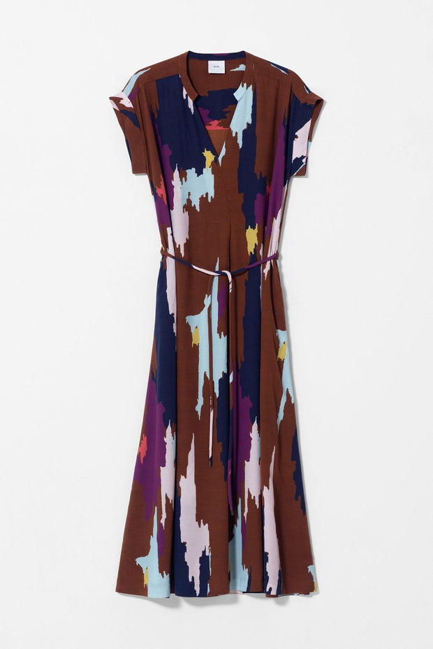 ELK - Ikat Maxi Dress - Tan Multi