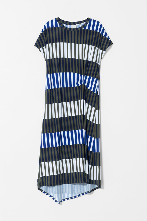 ELK - Valby Dress - Olive Stripe