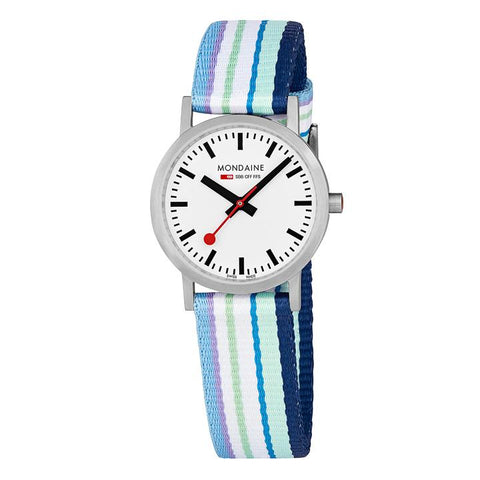 Mondaine Watch - Swiss Railways Essence in Blue Textile
