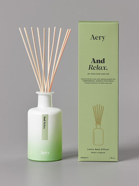 Aery Living - Aromatherapy 200ml Reed Diffuser - And Relax
