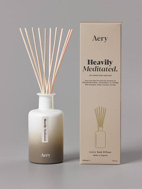 Aery - Aromatherapy 200ml Reed Diffuser - Heavily Meditated