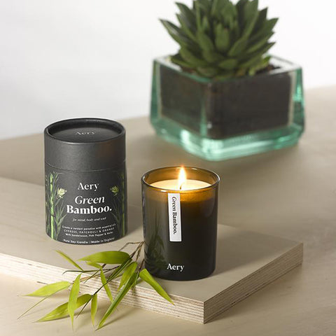 Aery Living - Botanical Green 200g Soy Candle - Green Bamboo