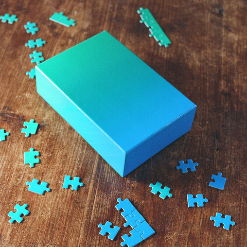 Areaware - Gradient Puzzle Jigsaw - Blue Green