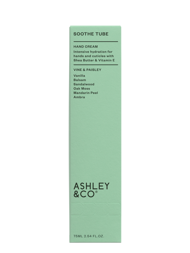 Ashley & Co. - Soothe Tube Hand Cream: Vine & Paisley