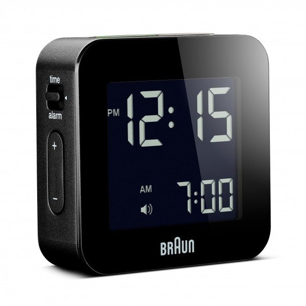 Braun Digital LCD Travel Size Alarm Clock (Bnc008) - Black