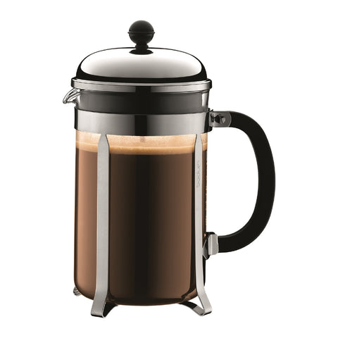 Bodum - Chambord French Press Coffee Maker - Stainless Steel - 12 cup