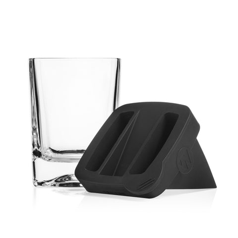 Corkcicle - Barware Whisky Wedge Glass With Ice Mould