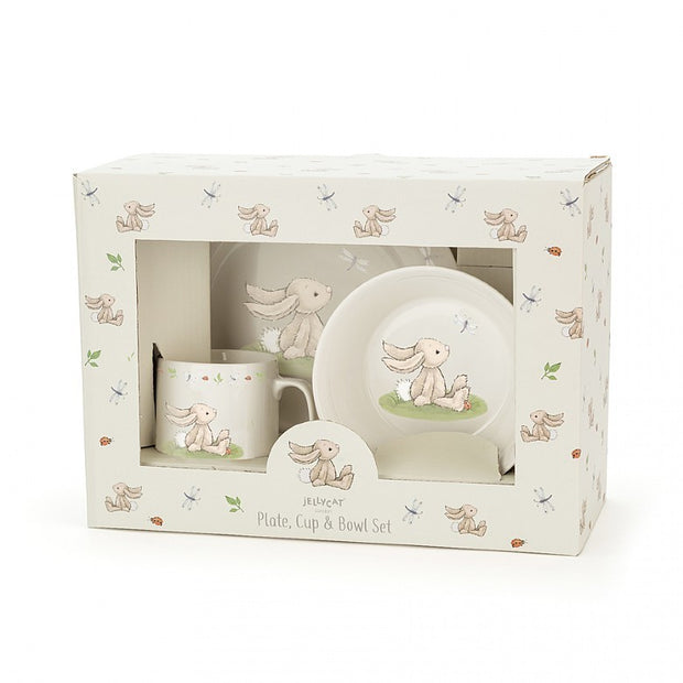 Jellycat Bashful Bunny China Dinner Set