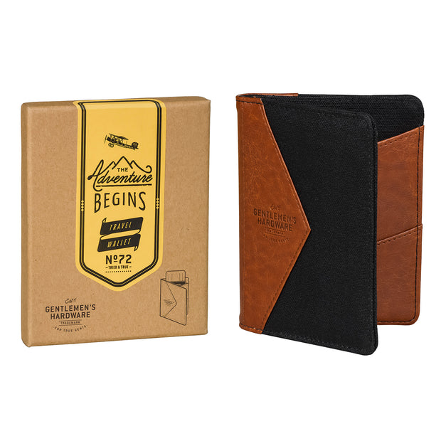 Gentlemen's Hardware Canvas Travel Wallet