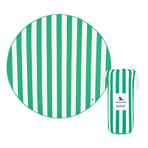 Dock & Bay - Beach Towel Round Collection - Cancun Green