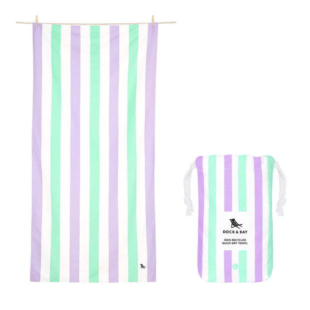 Dock & Bay - Beach Towel Summer Collection - Lavender Fields Large