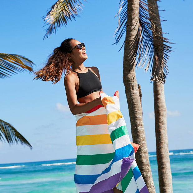 Dock & Bay - Beach Towel Summer Collection - Rainbow Skies Large