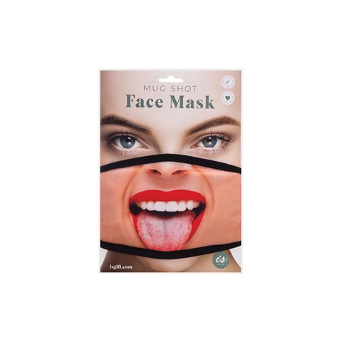 Mug Shot Face Mask - Red Lipstick