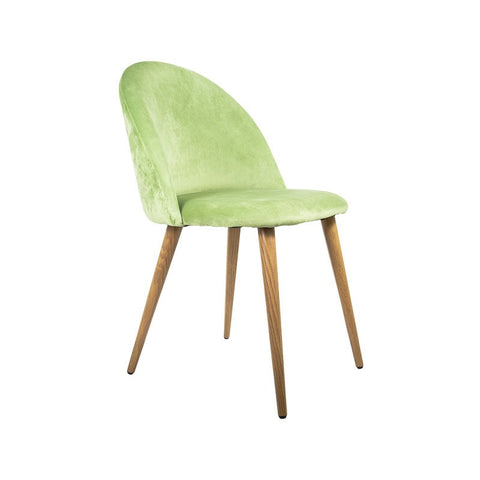 Florabelle - Diamond Velvet Chair Green