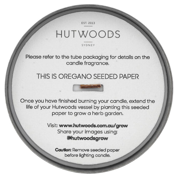 Hutwoods - Luxury Brushed Black Vessel Candle - Wood Sage & Sea Salt