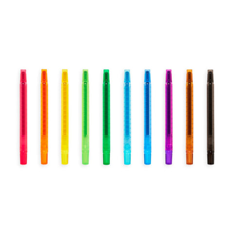 Ooly - Yummy Scented Twist-Up Crayons - Set of 10